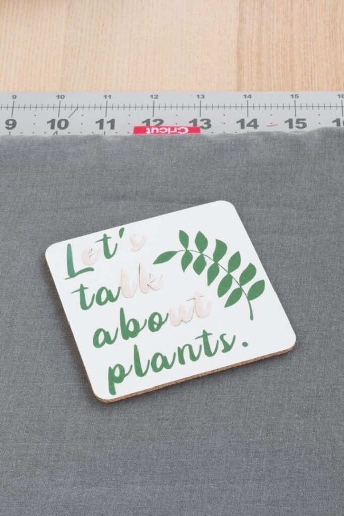coasters made using Cricut infusible ink