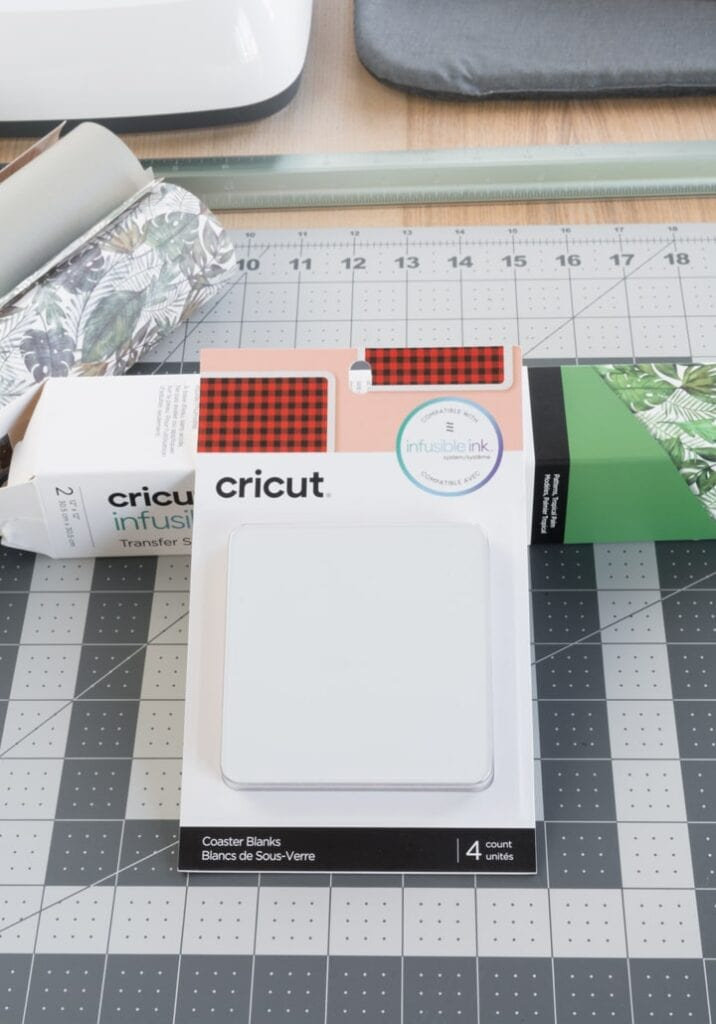 Cricut infusible ink coasters