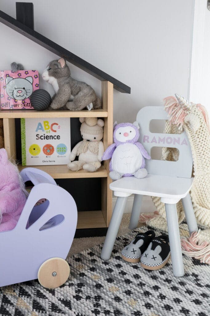 Kids play area with a personalized chair