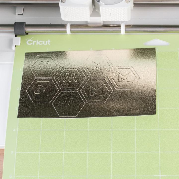 debossing stickers on a Cricut Maker machine