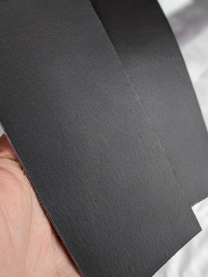 pieces of leather for cutting on a Cricut