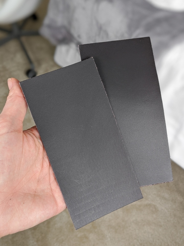 pieces of leather for cutting on the Cricut Maker