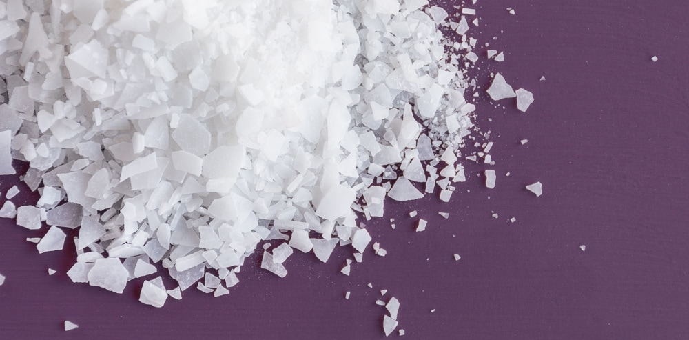 magnesium flakes on a table