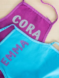 DIY personalized kids aprons