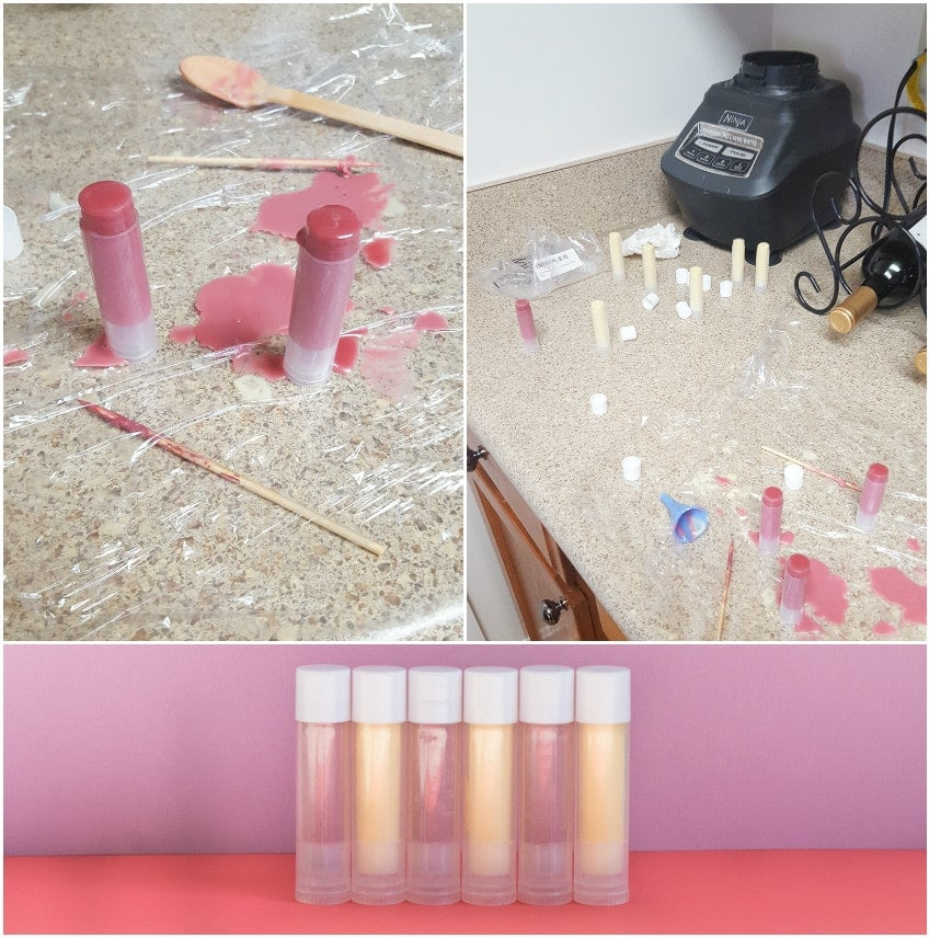 DIY beeswax lip balm process
