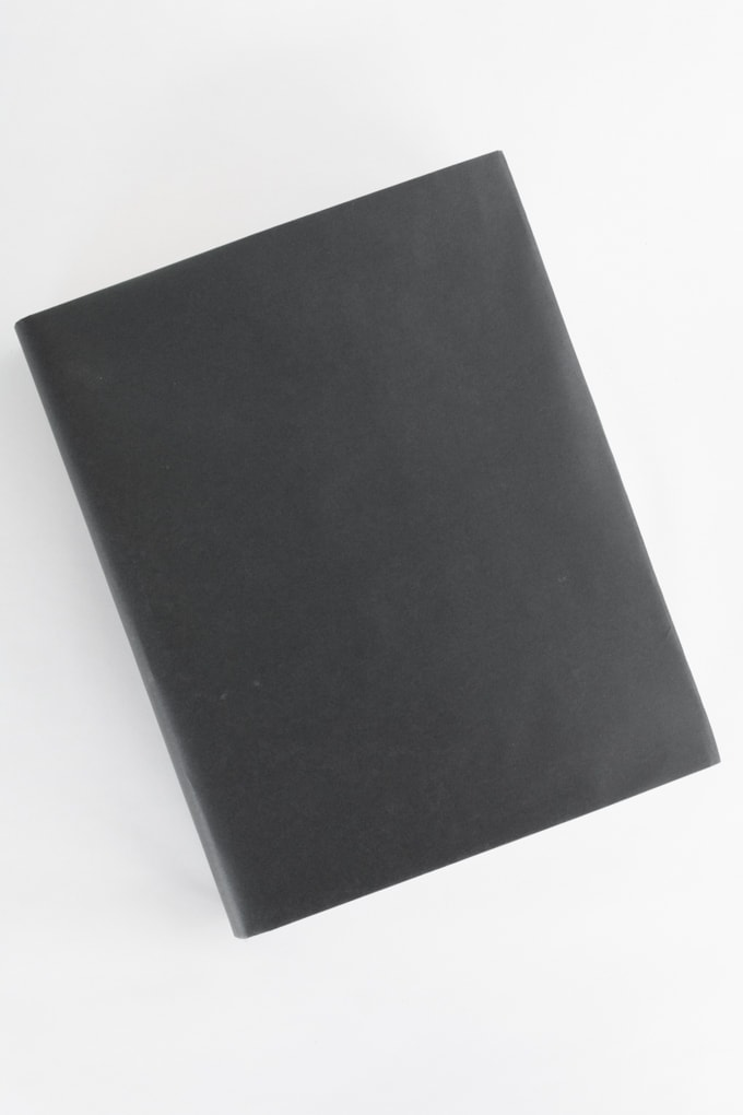covered book using paper