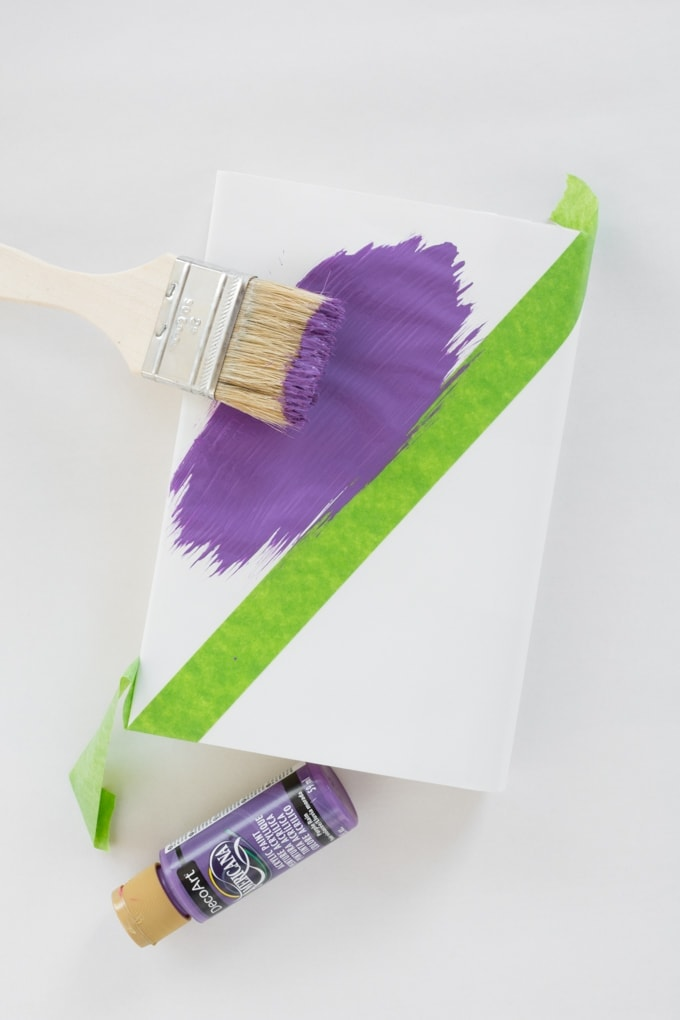 painting on the DIY book cover