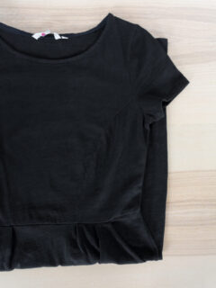 reviving a faded black dress with dye