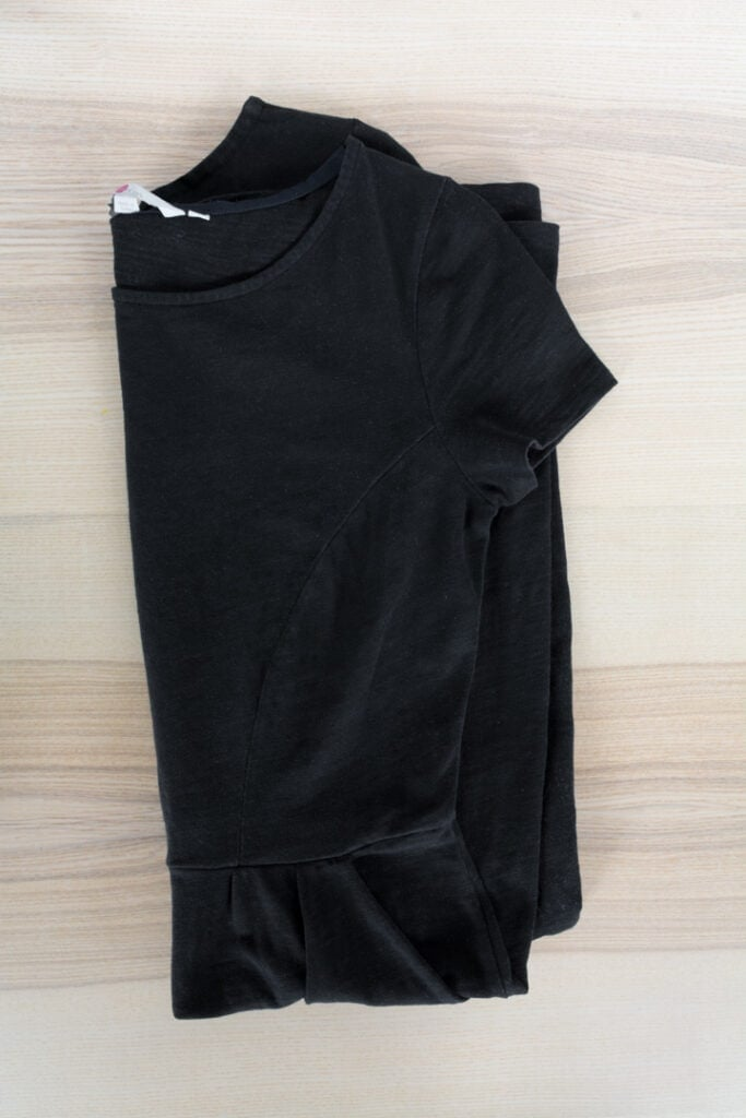 black dress revived with dye