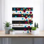 Kate Spade Inspired Decor: Confetti Canvas Art