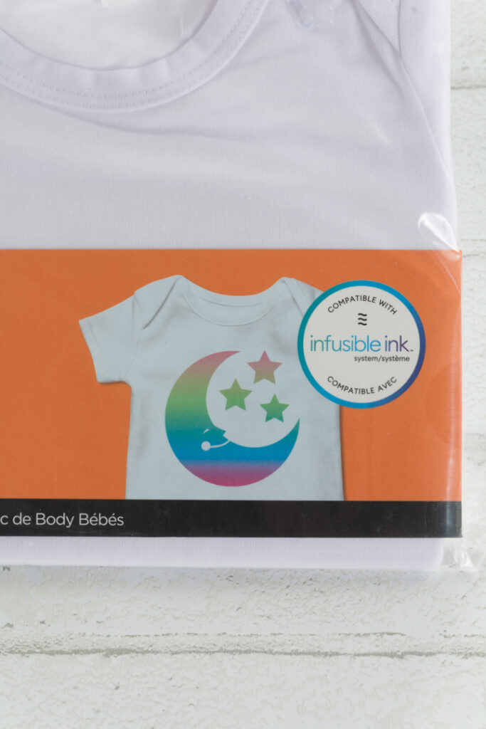 Cricut Infusible Ink bodysuits package