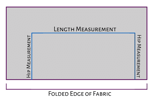 how to fold and measure the skirt