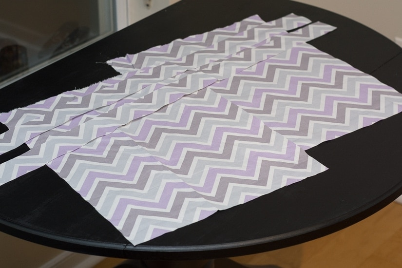 pieces of fabric on a table