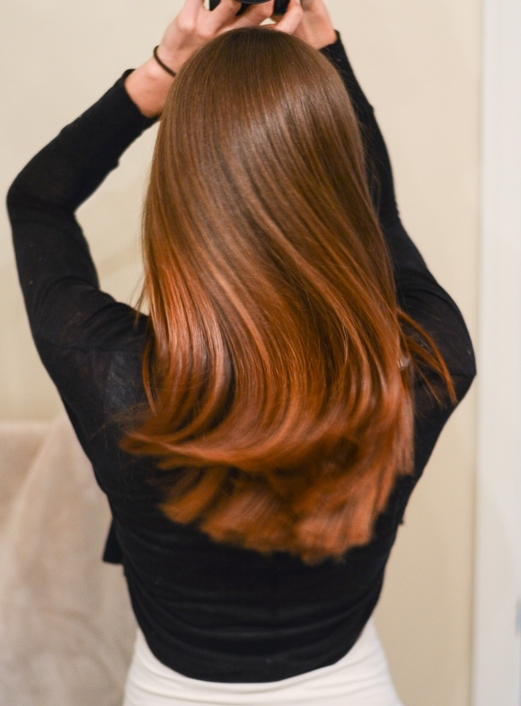 woman with pretty hair from behind
