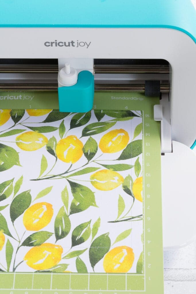 cutting deluxe adhesive paper on a cricut joy machine
