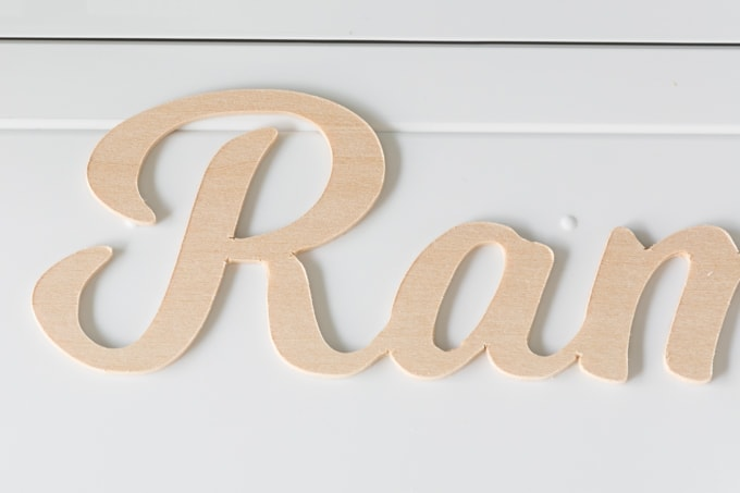 wood cut out on the Cricut Maker using a knife blade