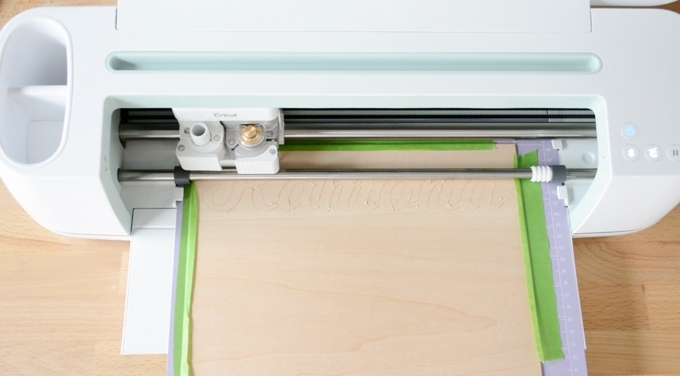 cutting basswood on a Cricut Maker using the knife blade