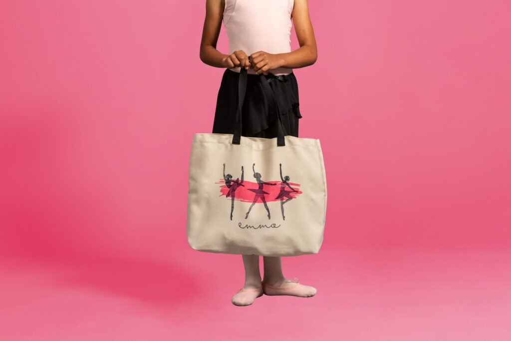 personalized dancer tote bag project using Cricut Infusible Ink