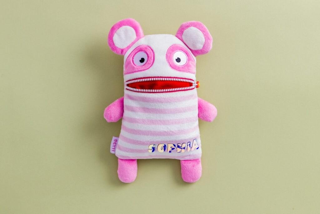 personalized stuffed animal using a Cricut machine