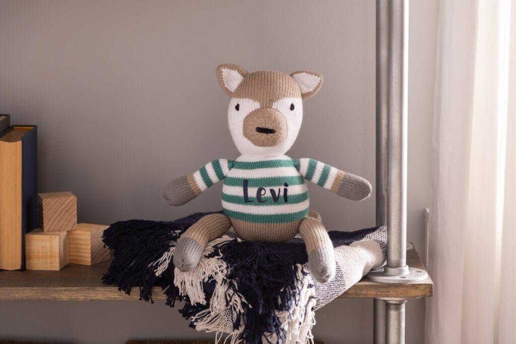 personalized kids stuffie using a Cricut machine