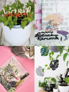 Cricut wood and chipboard projects collage