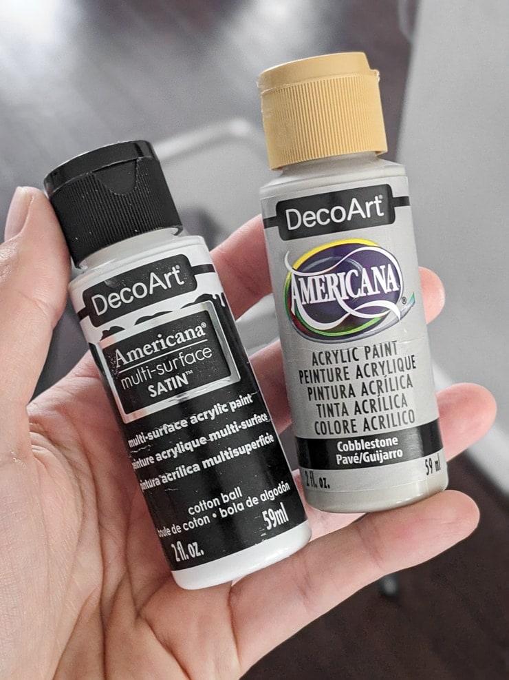 bottles of decoart acrylic paint