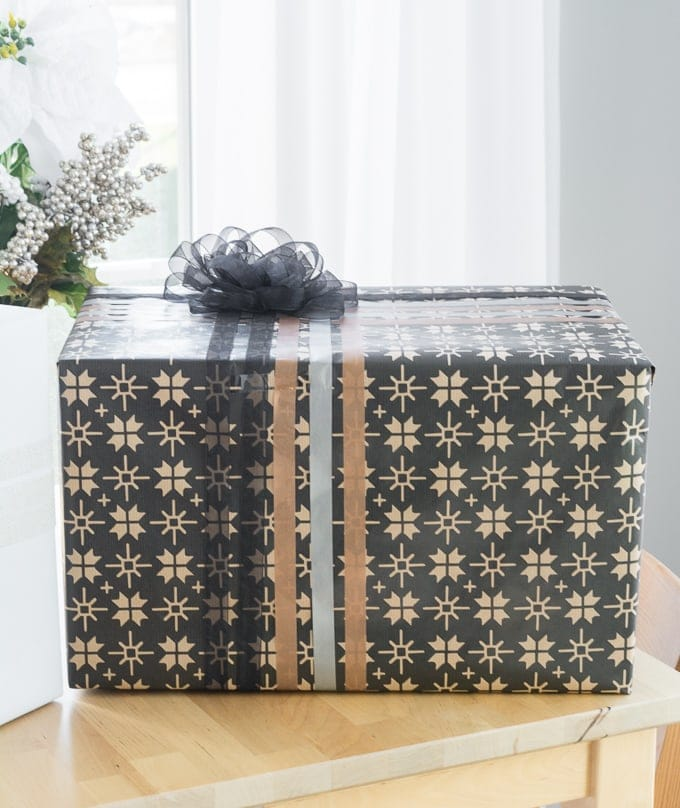 gift wrap adorned with washi tape