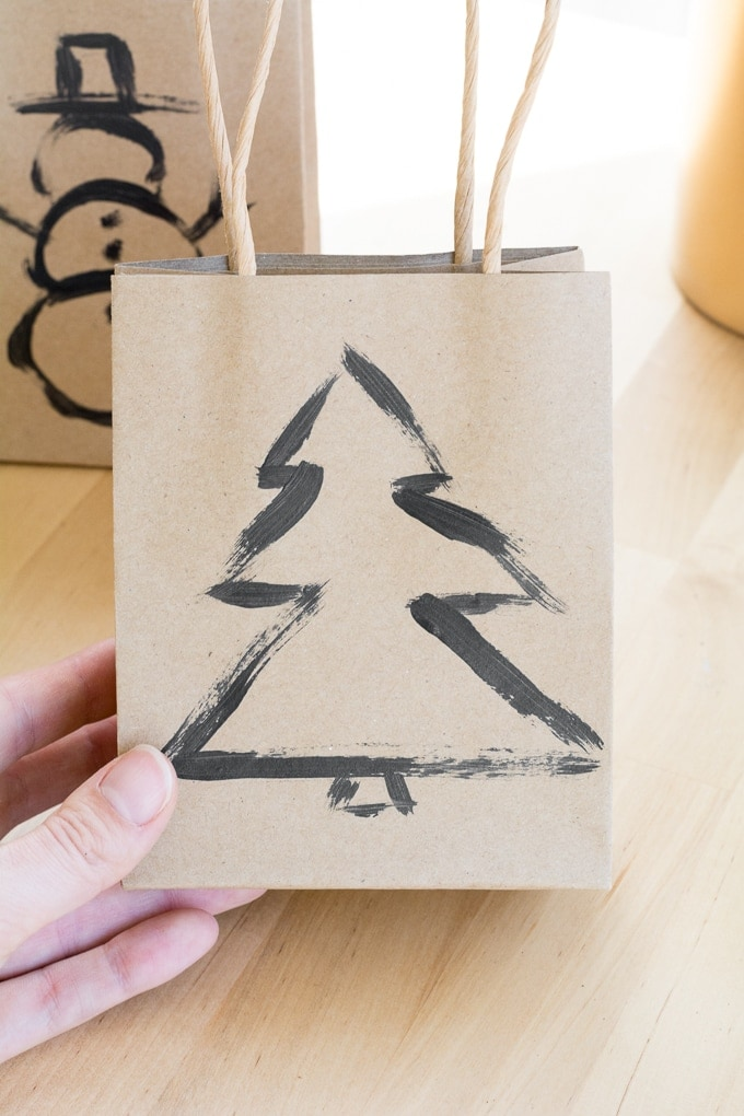 painted brush stroke gift bags
