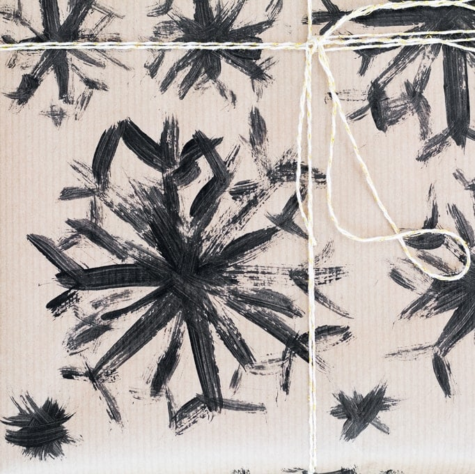 painted brush stroke wrapping paper