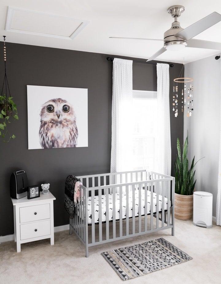 modern toddler nursery