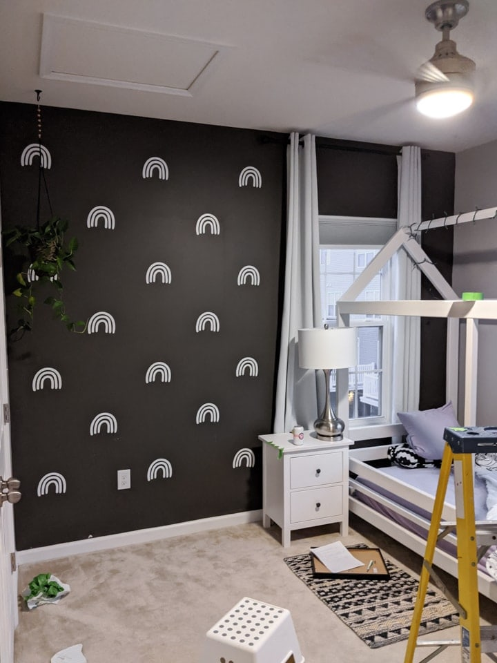 putting DIY wall decals up