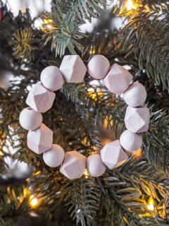DIY wood bead ornament