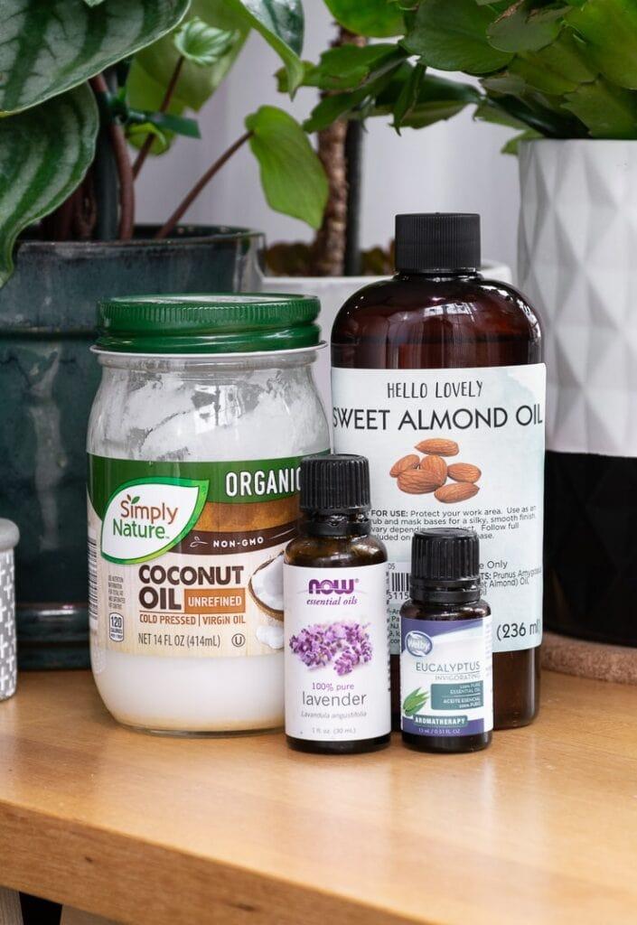 Eucalyptus Salt Scrub DIY with Lavender ingredients
