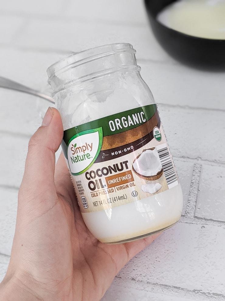 bottle of coconut oil