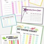 10 Free Printable Weekly Chore Charts