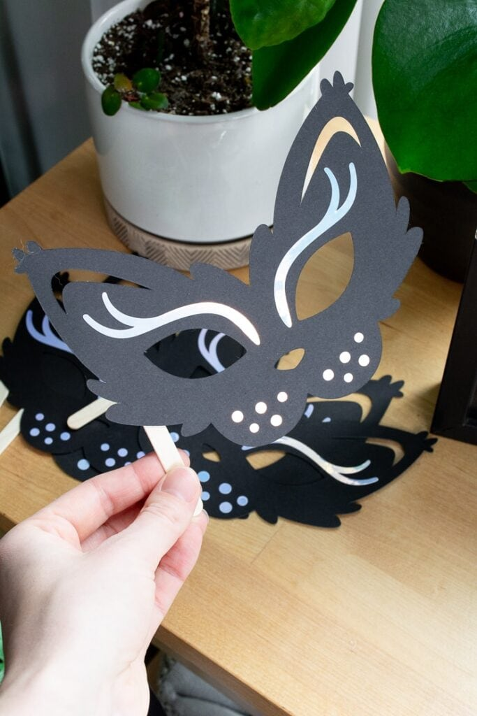 DIY cat mask for a cat birthday party