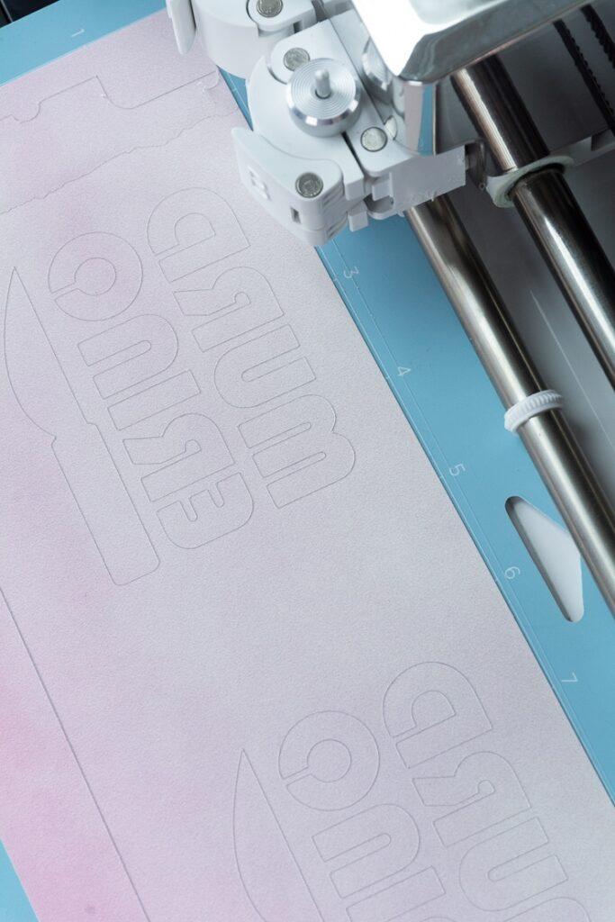 cutting a Cricut Infusible Ink transfer sheet