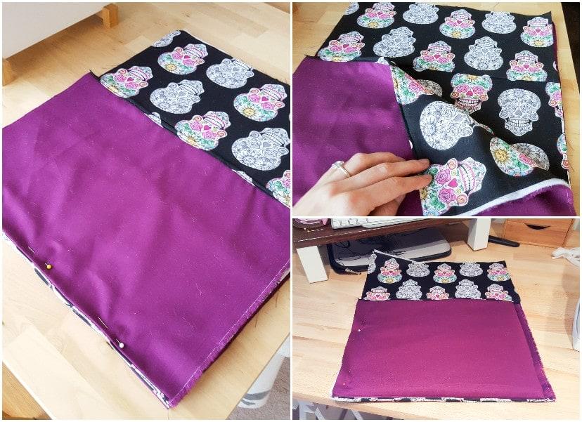 sewing the envelope laptop sleeve
