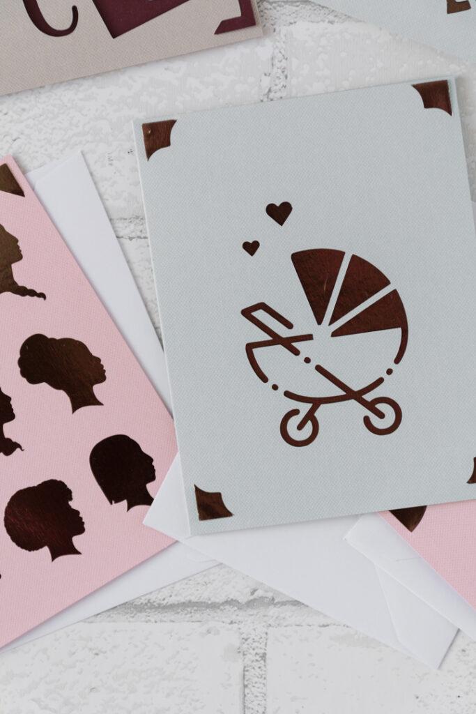 finished greeting card cut on the Cricut Joy machine