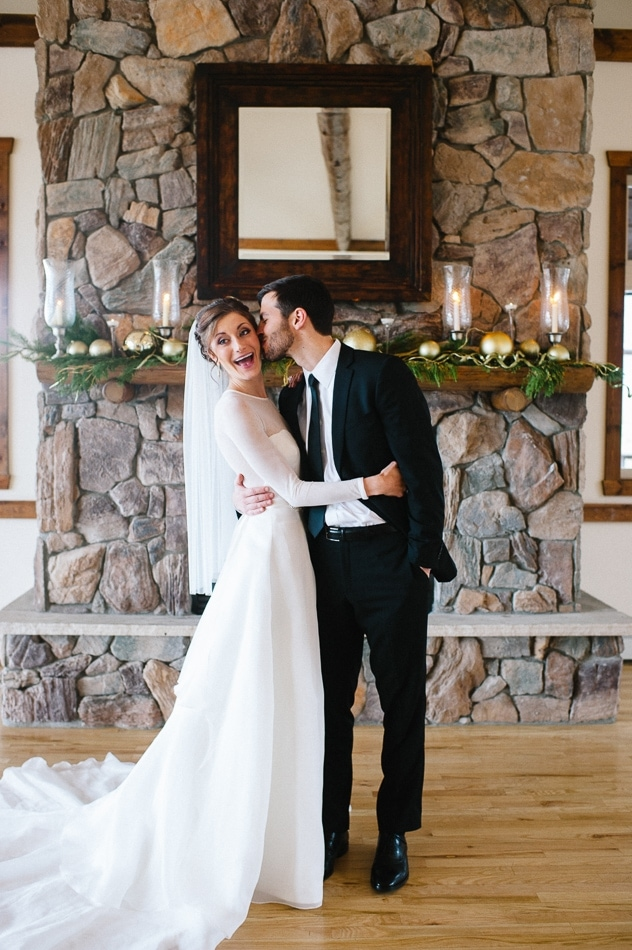 woman in a wedding dress with a man in a suit