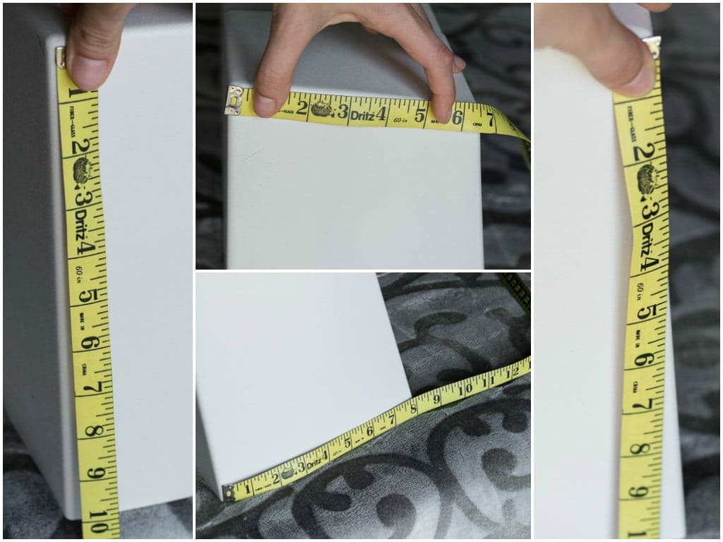 measuring a sewing machine cover