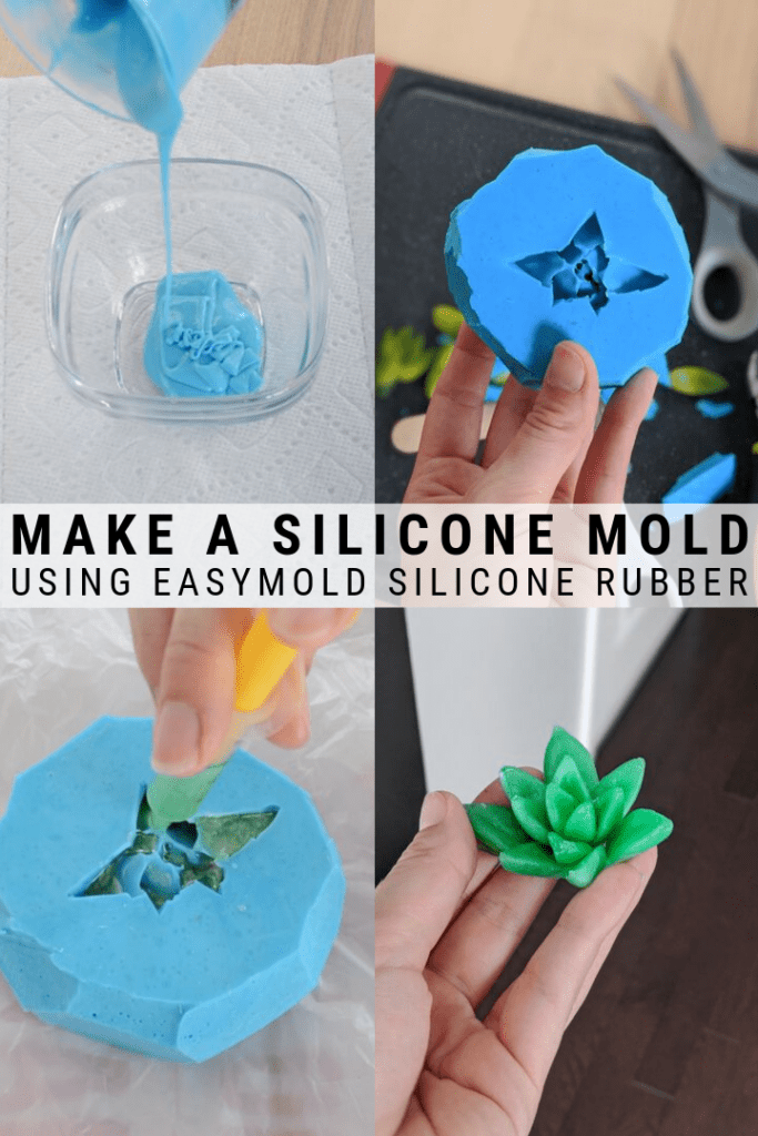 pinnable graphic about two easy ways to make a silicone mold