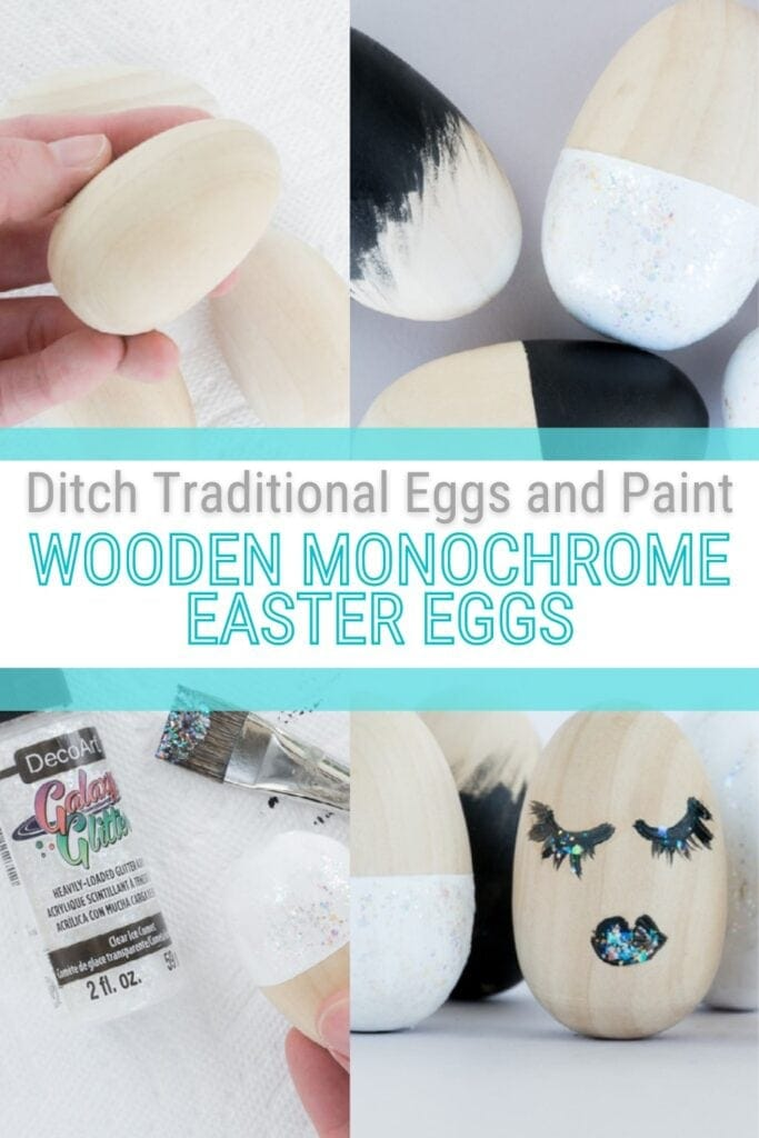 pinnable graphic about modern easter egg decorating ideas with images and text overlay