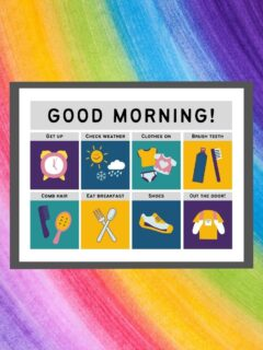 printable morning routine for kids