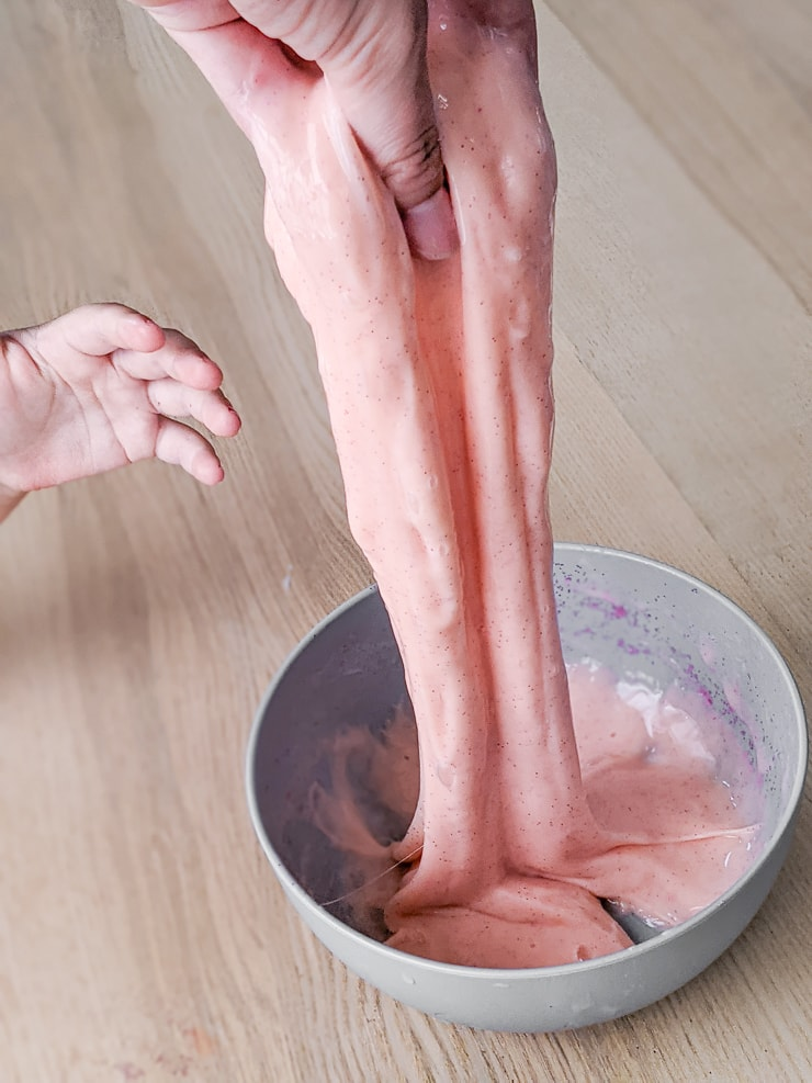 the best DIY slime recipe made using glue, water, and liquid starch