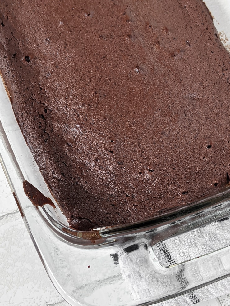 dish of brownies