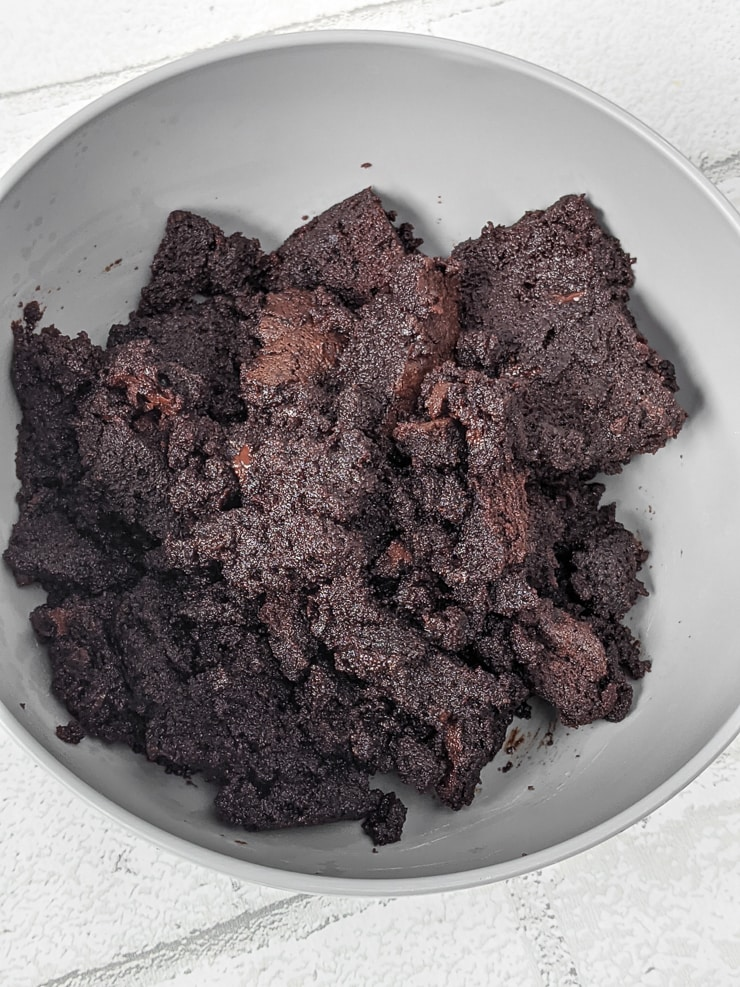 mashed up brownies for brownie cake pops