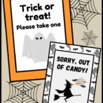 25 Free Printable Halloween Candy Signs