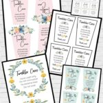 Free Printable Tumbler Care Instructions: 21 Printable Cards!
