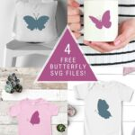 4 Simple Butterfly SVG Files—for Free!